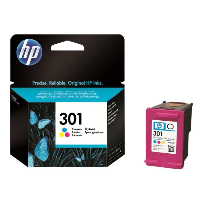HP 301 Cartouche d'encre Trois couleurs (Cyan, Magenta, Jaune) authentique (CH562EE)