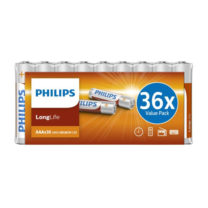 Piles PHILIPS Longlife AAA - LR03 x36