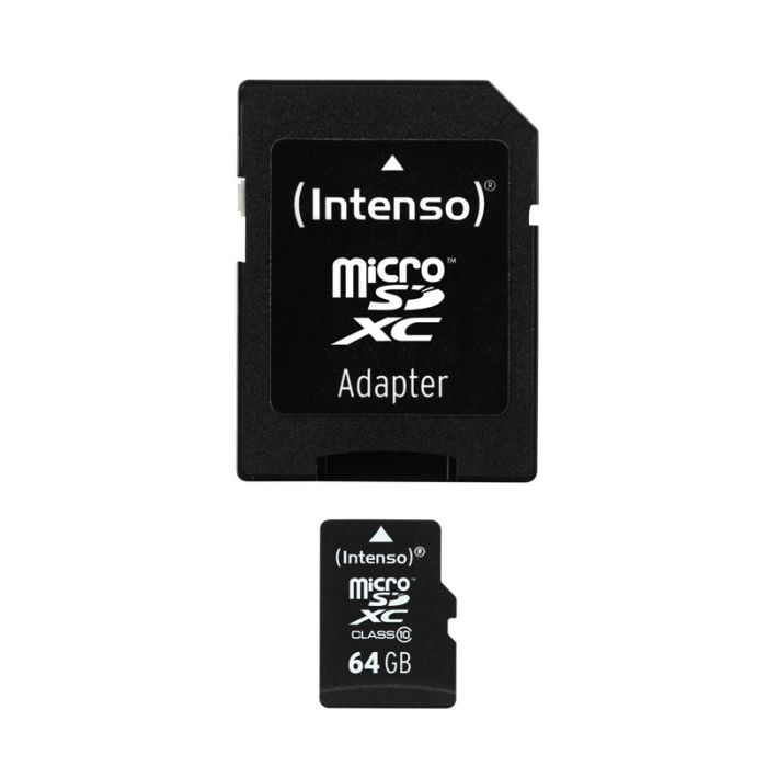 Carte Micro-SD 64 go INTENSO class 10 + adaptateur