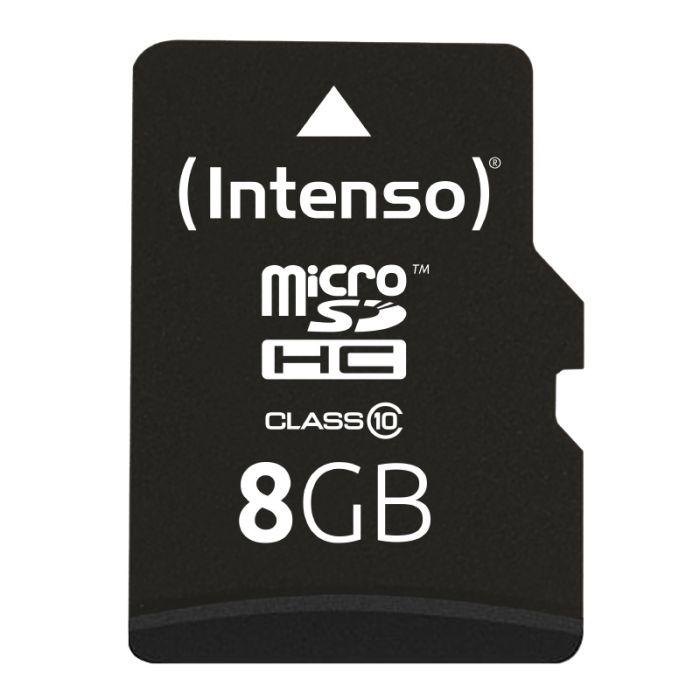 Carte Micro SD INTENSO 8 Go Classe 10 +