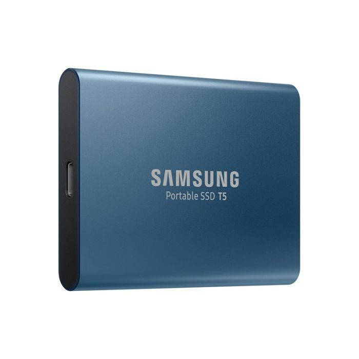 Disque Dur externe SSD  SAMSUNG T5 500Go Bleu - MU-PA500B/EU