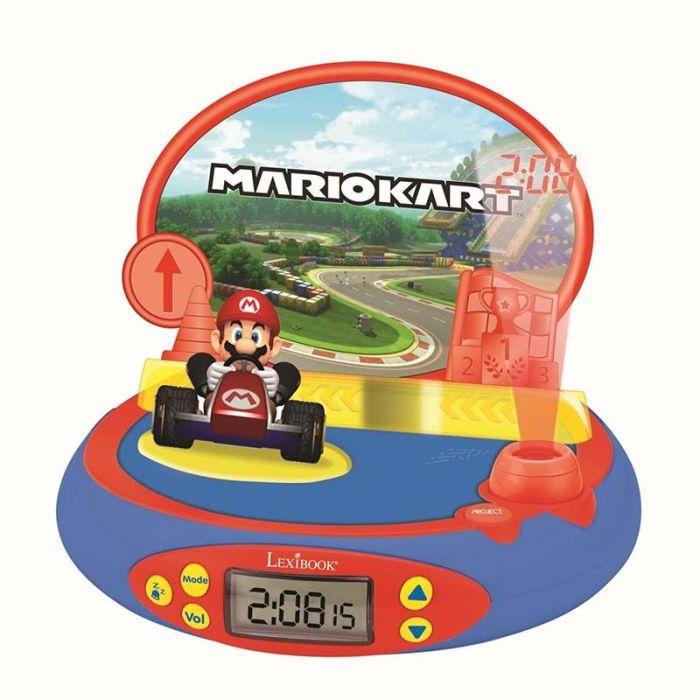 Réveil LEXIBOOK Projecteur avec Mario Kart 3D