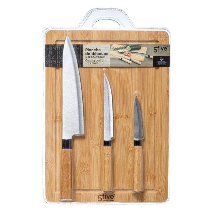Planche à découper + 3 couteaux