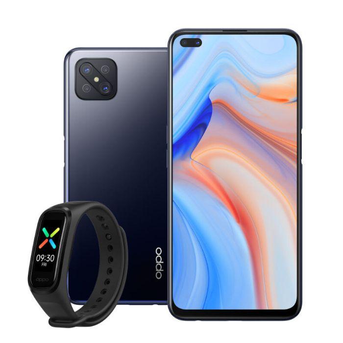 PACK SMARTPHONE OPPO RENO4 Z 128Go NOIR + BRACELET OPPO BAND SPORT