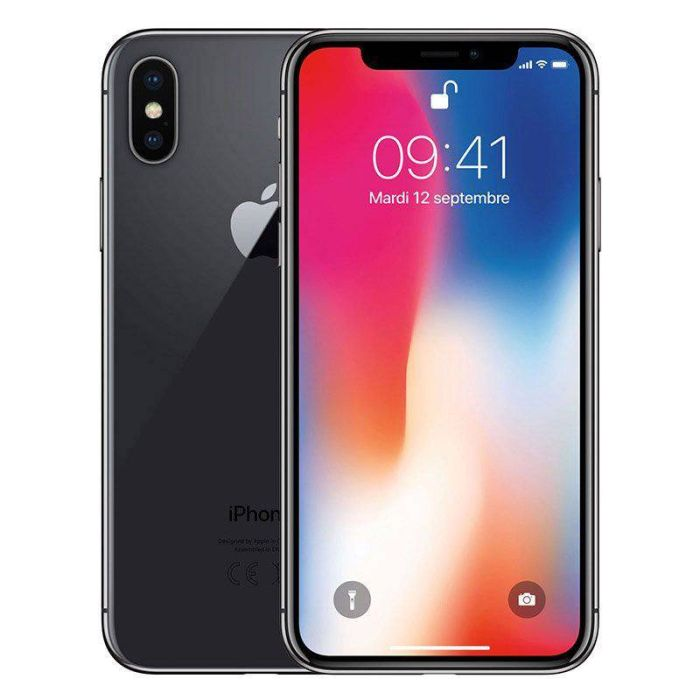 APPLE IPHONE X 64 GO SIDERAL GREY RECONDITIONNE GRADE ECO + COQUE