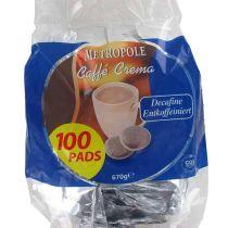 Dosettes de café METROPOLE Décaféiné x100