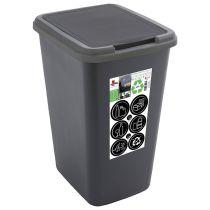Poubelle green bin 50L plastique 100% recyclé