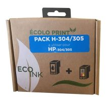 Kit de remplissage 304 et 305 Eco INK Pour HP NOIR + COULEURS