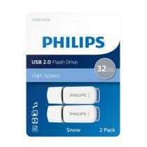 Pack de 2 clés USB 32Go Philips