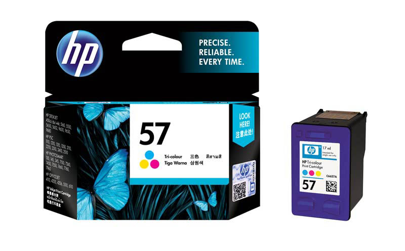 Cartouche HP 57 3 couleurs (Cyan, Magenta et Jaune) authentique (photo)