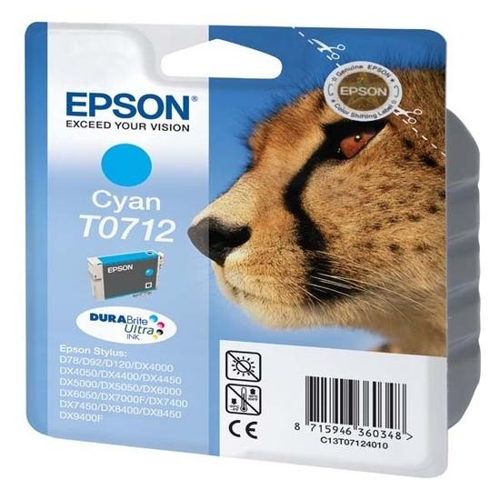 Cartouche EPSON T0712 Guepard Cyan