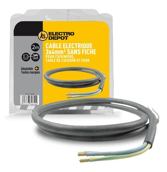 Câble D'alimentation électrique 3 X 4 Mm² Électro DÉpÔt (photo)