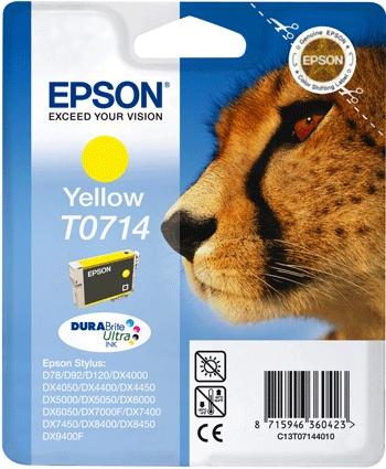 Cartouche EPSON T0714 Guepard Jaune