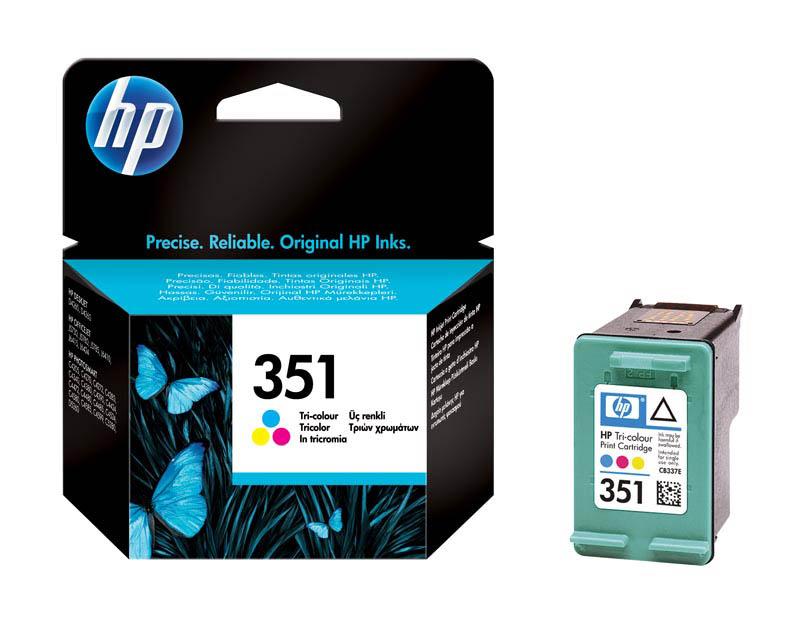 HP 351 Cartouche d'encre Trois couleurs (Cyan, Magenta, Jaune) authentique (CB337EE)