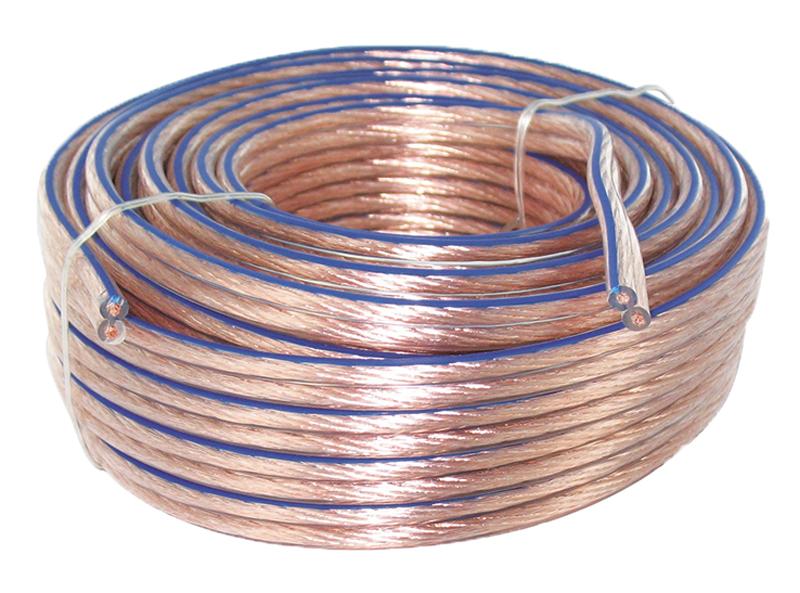 Câble haut parleur 2 x 1,5 - 10 metres (photo)
