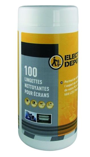 Lingette nettoyante Electro depot X 100 pour ecran