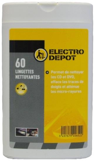 Lingette nettoyante Electro depot X 60 pour tablette