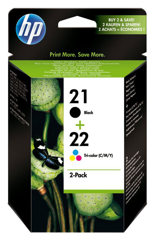 Multipack cartouches HP N°21/22 (photo)