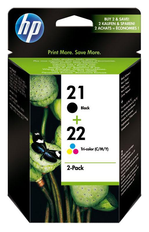 HP 21/HP22 Pack de 2 cartouches d'encre Noir et 3 couleurs (Cyan, Magenta, Jaune - SD367AE) grande capacite authentiques (photo)