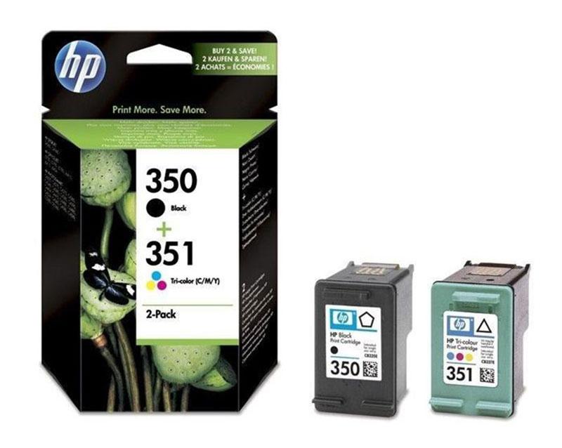 HP 350/351 Pack de 2 cartouches d'encre Noir et Trois couleurs authentiques (SD412EE) (photo)