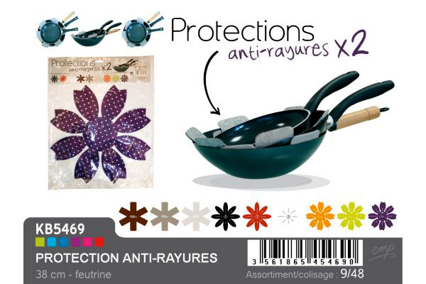 2 protections de poêles anti-rayures 38cm (photo)