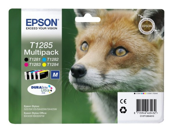 Multipack cartouches EPSON T1285 Renard (photo)