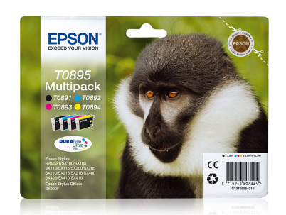 Multipack cartouches EPSON T0895 Singe (photo)