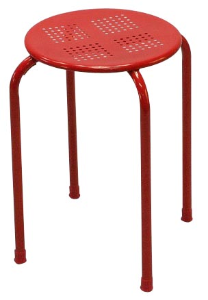 Tabouret en metal (photo)