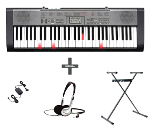 Clavier Casio Lk125 Avec Adaptateur, Pied Et Casque
