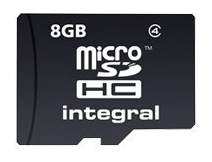 Carte Micro SD 8 go INTEGRAL