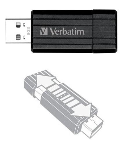 Cle USB VERBATIM 8 Go PinStripe (photo)
