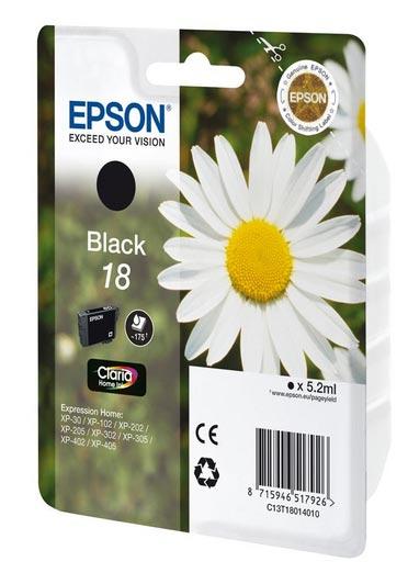 Cartouche EPSON T1801 Paquerette Noire (photo)
