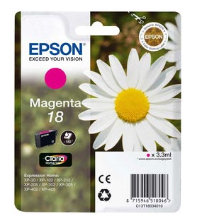 Cartouche EPSON T1803 Paquerette Magenta (photo)