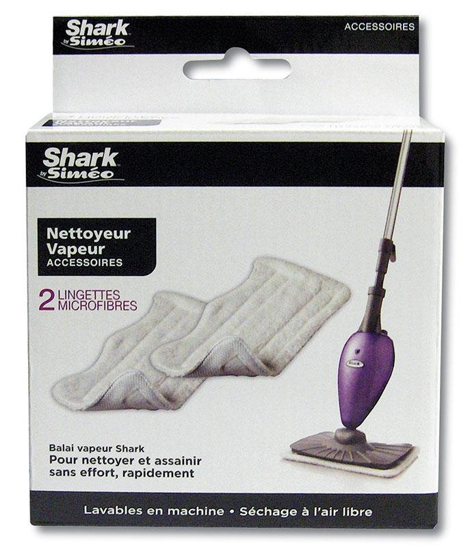 Pack de 2 lingettes microfibre SHARK (photo)