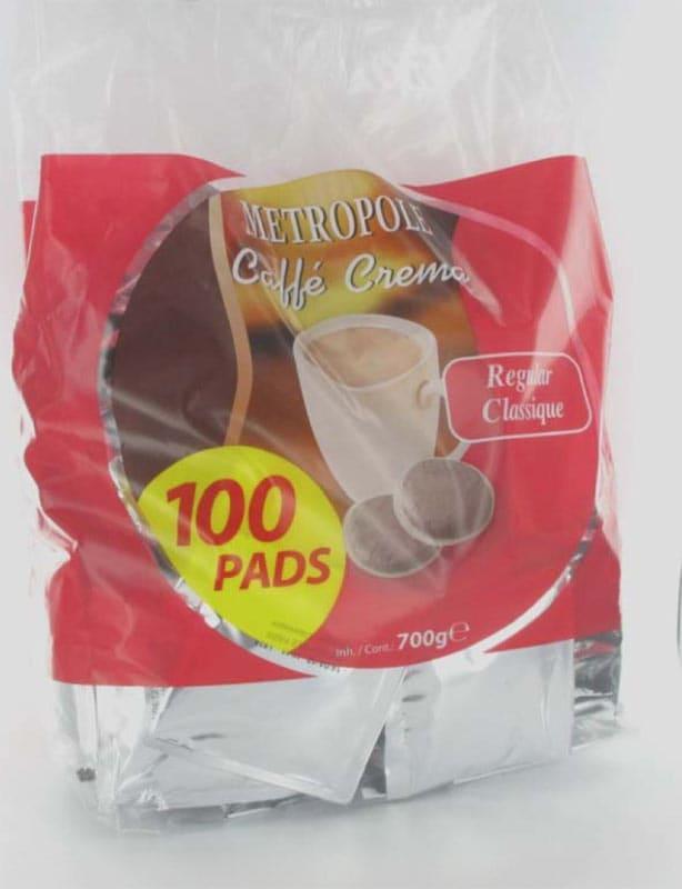 Dosettes De Café Metropole Classique X100