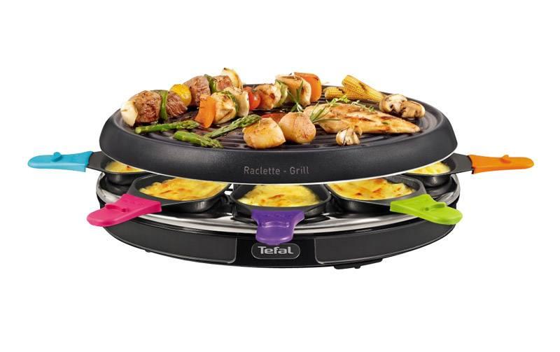 Raclette TEFAL RE130812 8 parts (photo)