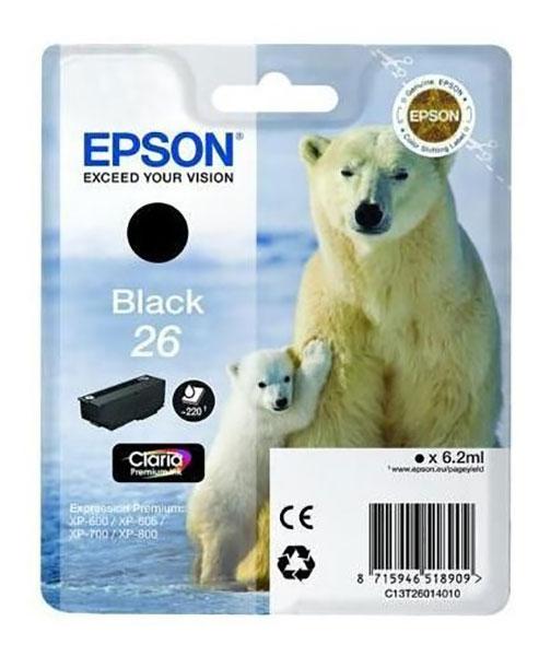 Cartouche Epson t2601 ours polaire noire