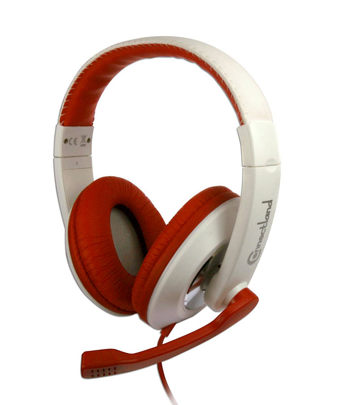 Casque micro CONNECTLAND TM 560MV Rouge