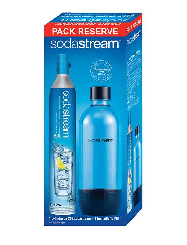 Pack 1 cylindre CO2 + 1 bouteille SODASTREAM (photo)