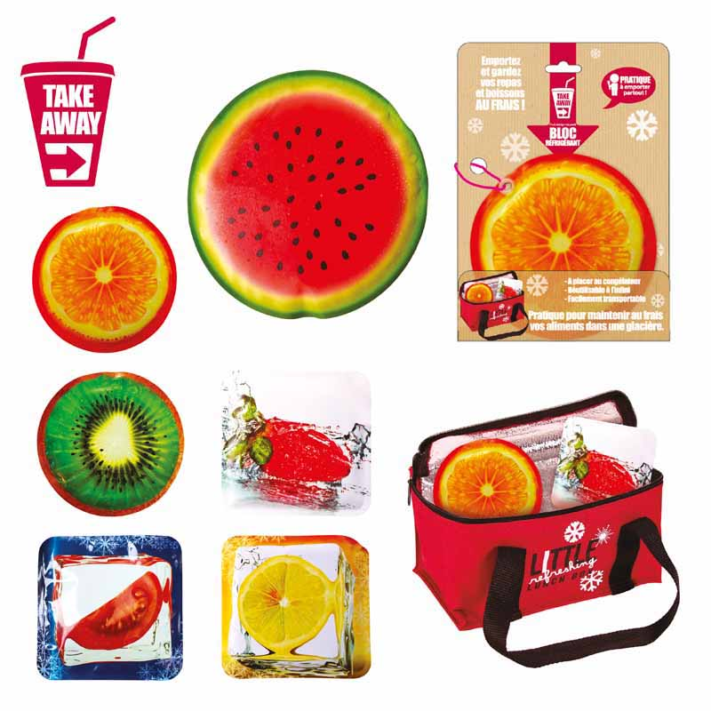 Bloc refrigerant motifs fruits (photo)
