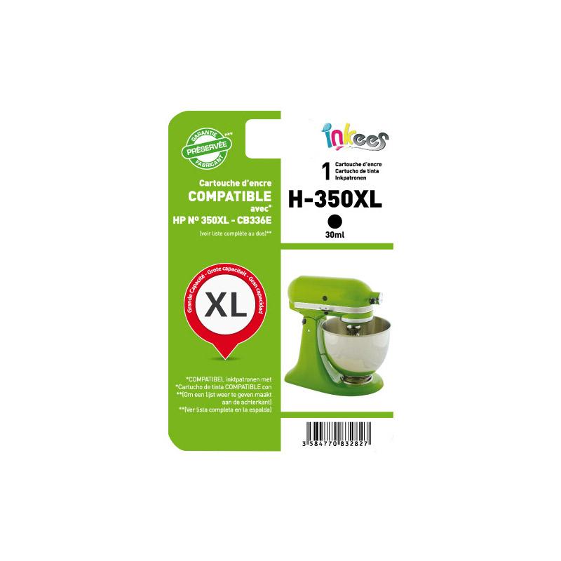 Cartouche INKEES H350XL noir compatible HP