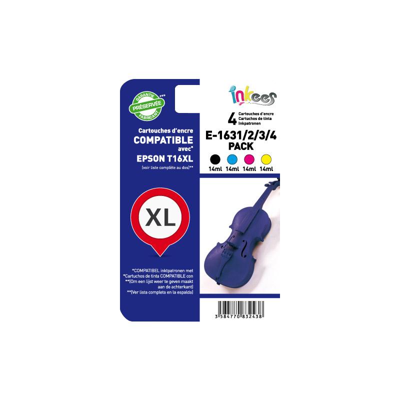 MultiPack INKEES E1631/2/3/4 noir + couleurs compatible EPSON (photo)
