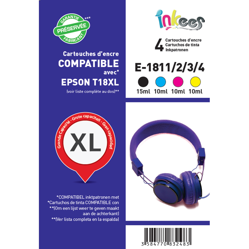Multipack INKEES E1811/2/3/4XL