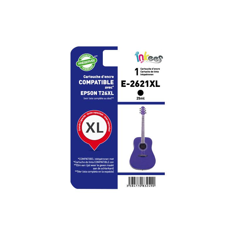 Cartouche INKEES E2621XL noir compatible EPSON