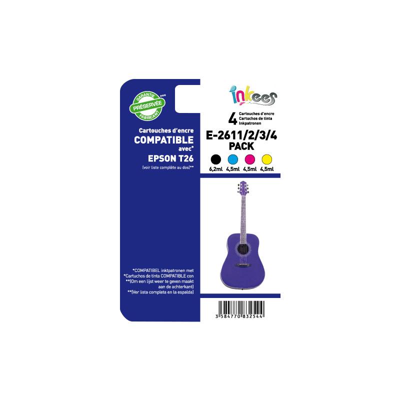 MultiPack INKEES E261/2/3/4 compatible EPSON (photo)