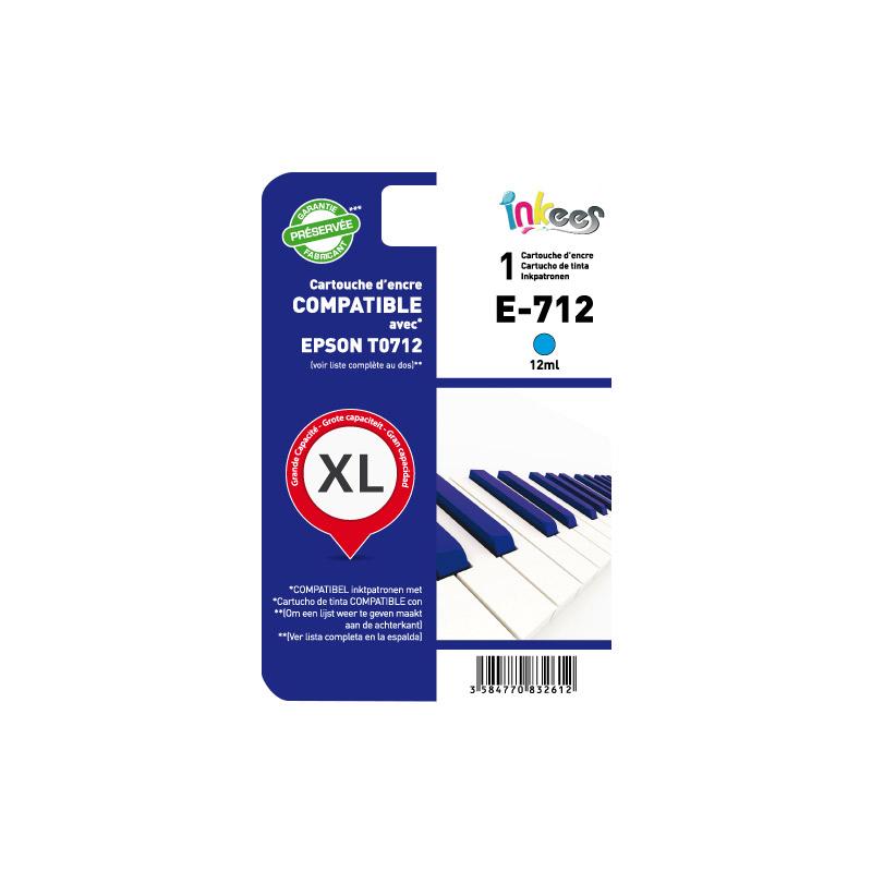 Cartouche INKEES E712 compatible EPSON