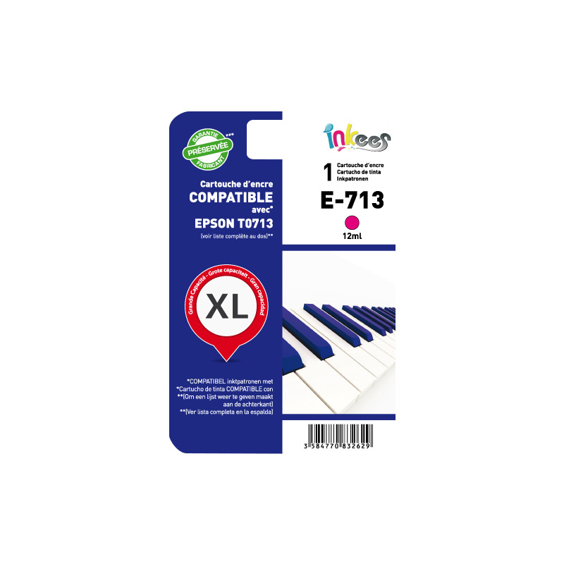 Cartouche INKEES E713 compatible EPSON