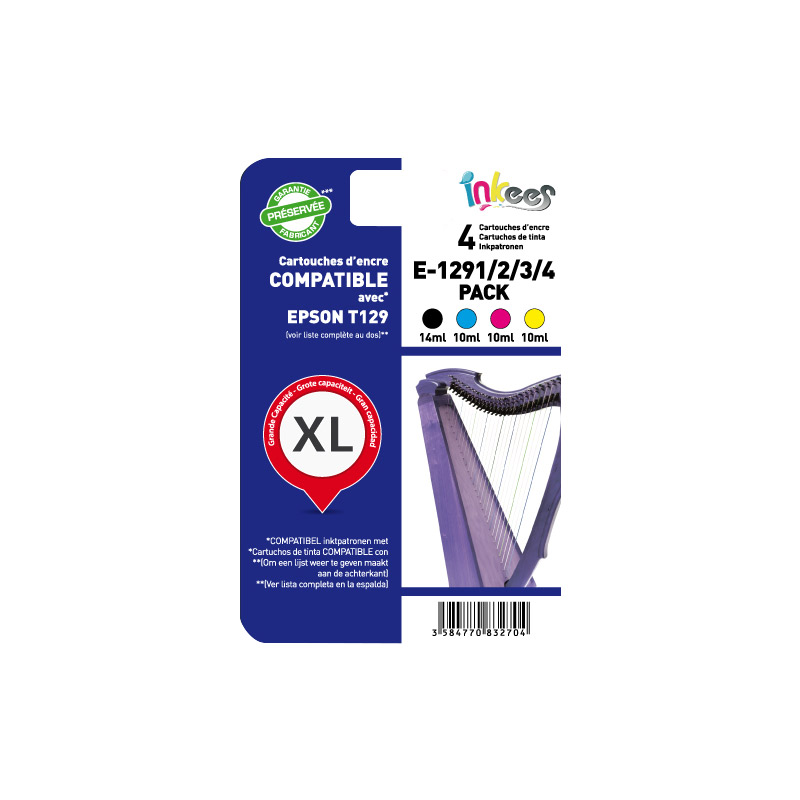 MultiPack INKEES E1291/2/3/4 compatible EPSON
