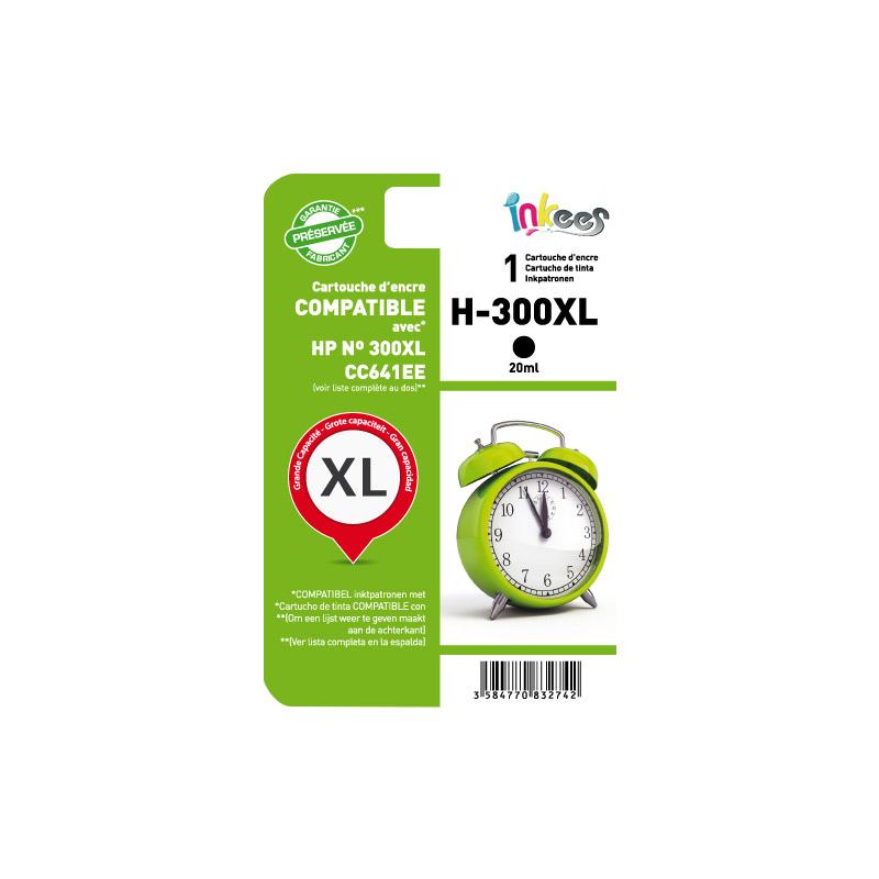 Cartouche INKEES H300XL Noir compatible HP