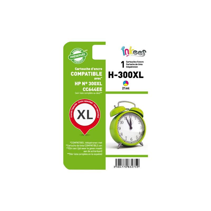 Cartouche INKEES H300XL Couleurs compatible HP (photo)